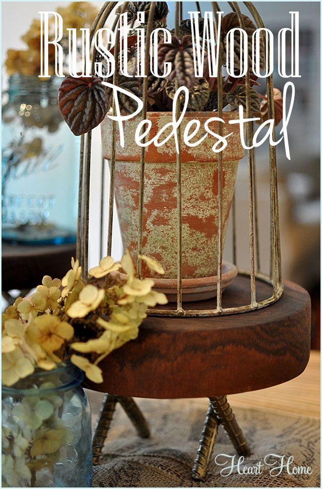 DIY Rustic Wood Pedestals! | Hometalk