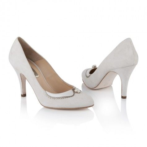 Catherine Ivory Suede | Rachel Simpson Shoes