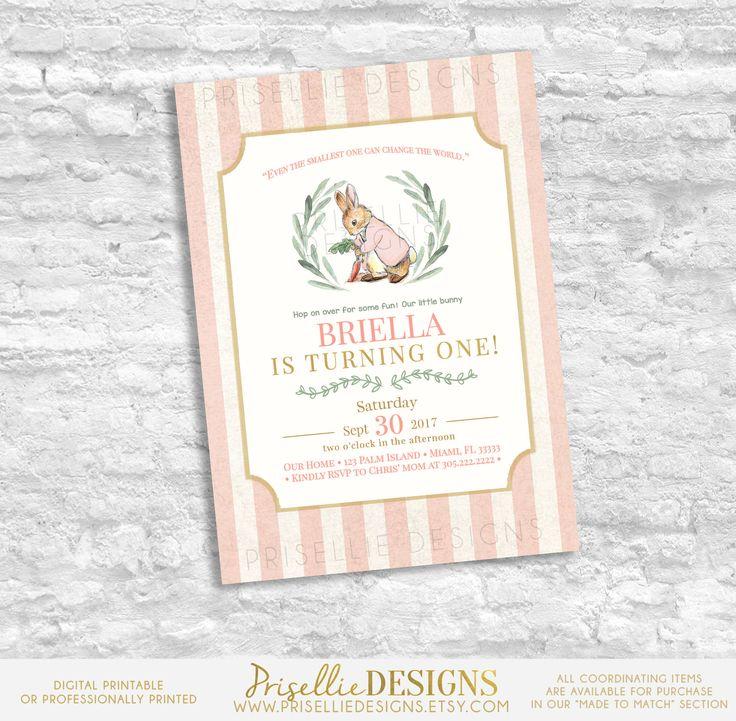 the 25+ best peter rabbit birthday ideas on pinterest | peter, Birthday invitations