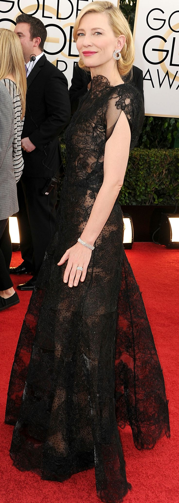 Cate Blanchett in Armani at the Golden Globes.