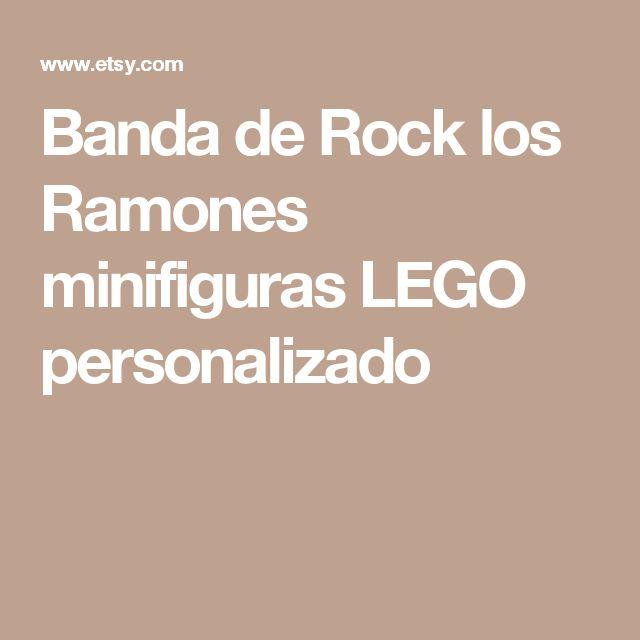 Banda de Rock los Ramones minifiguras LEGO personalizado