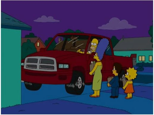 Check out the 10 Of The Most Iconic Cars From The Simpsons! Anybody remember the Dodge Ram? Take a look...