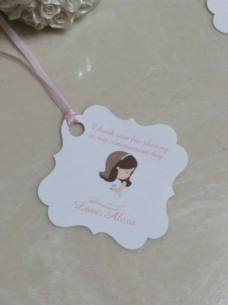 36Personalized Favor Tags 2 1/2'', First Communion tags, Thank You tags, Favor tags, Gift tags, reserved listing for Erika thompson by beautifullshop on Etsy
