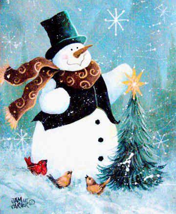 "*SNOWMAN ~ ""Christmas Tree Friends"""
