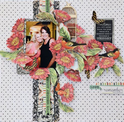This sweet layout by Joanne Bain used the Curiosity collection by KaiserCraft.