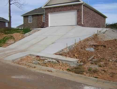 12 best sloped drives images on pinterest driveways for Steep driveway construction