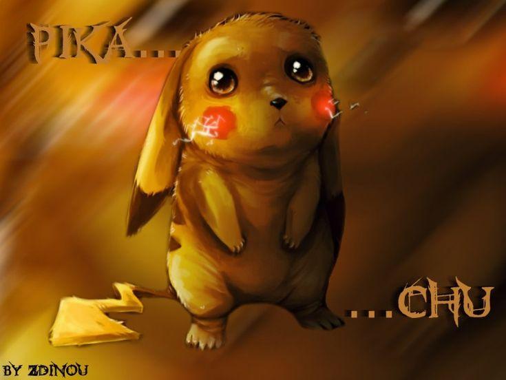 Wallpapers Manga > Wallpapers Pokemon Pikachu triste... by zdinou - Hebus.com