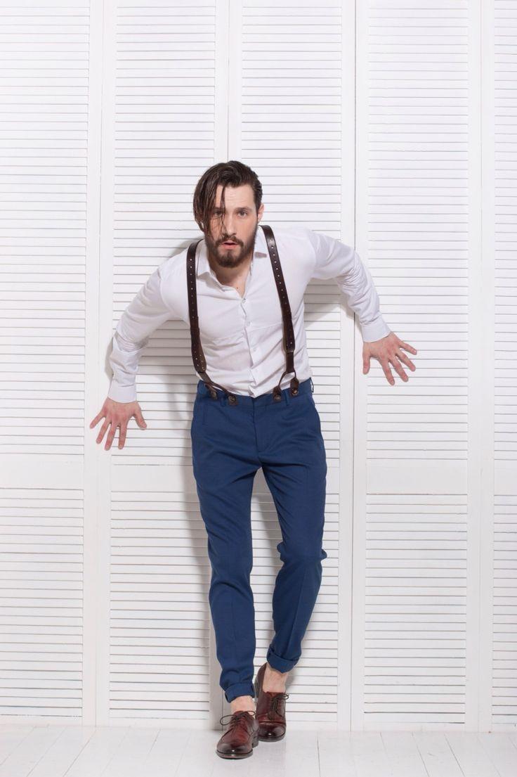 Elegance Suspenders - 650 грн. Пуговицы в комплекте. Бесплатная доставка на отделение Новой почты. Для заказа пишите сюда - MAIL@SKINANDBONES.COM.UA.  Первое впечатление про мужчину складывается по его одежде и внешнему виду. Так вот, эксклюзивные мужские подтяжки Elegance Suspenders создадут отличное и запоминающееся первое впечатление еще до того, как Вы заговорите. Дальше уж дело за Вами!  #skinandbones #man #woman #handmade #leather #bowtie #collar #wallet #suspenders #exclusive
