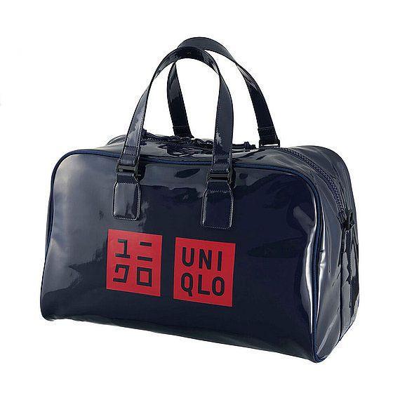 New Novelty Rare UNIQLO Kei Nishikori Model Tennis Enamel Boston Bag Navy Japan #Uniqlo