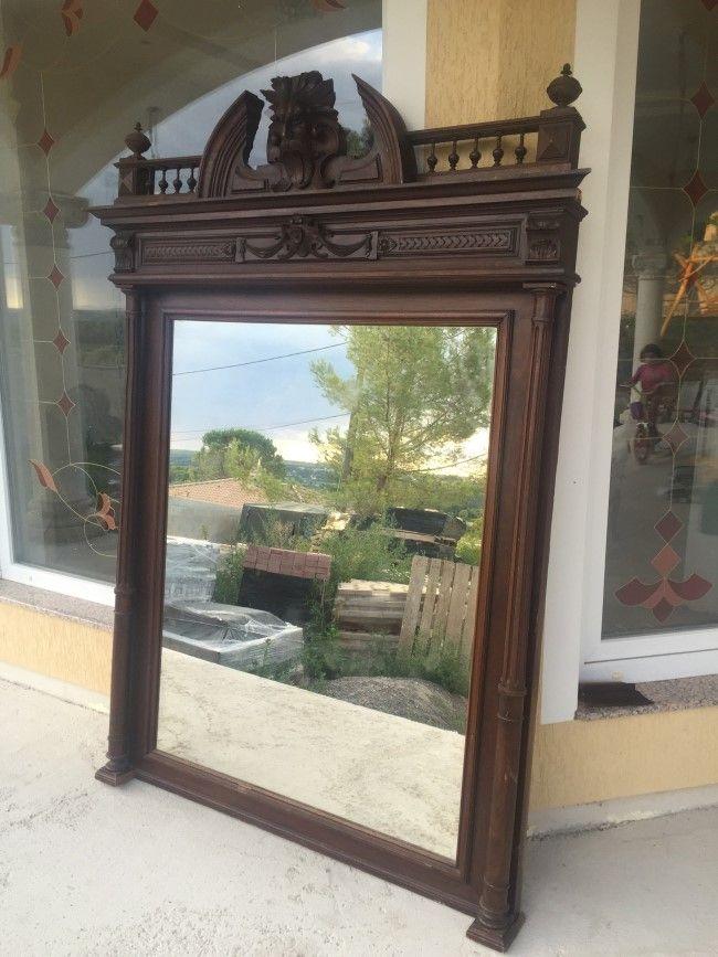 Антикварное зеркало в стиле барокко.