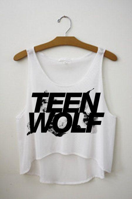 Teen Wolf Logo Crop Top Tank Shirt, Stiles, Scott, Lydia, Isaac