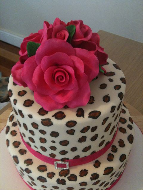 Leopard Print Cake | Leopard Print Wedding Cake | Flickr - Photo Sharing!