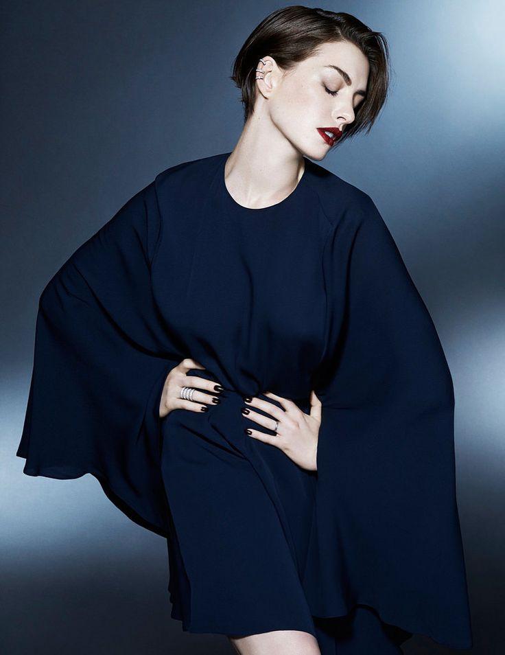 Энн Хэтэуэй — Фотосессия для «Elle» UK 2014 by Kai Z Feng
