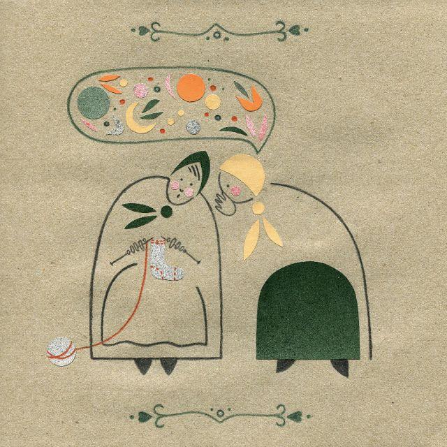 """Plotkarka"" - bajki góralskie, 20 x 20 cm, ilustracja. Magdalena Wanat. 2015"