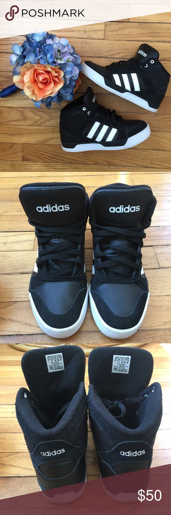 Adidas High Tops Awesome high tops.  Men's 7.  I'd say best for a women's 8 or maybe 7.5 too.  Good used condition. Adidas Shoes Sneakers