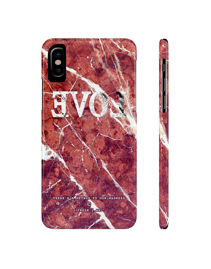 EVOL RED MARBLE iPhone X case