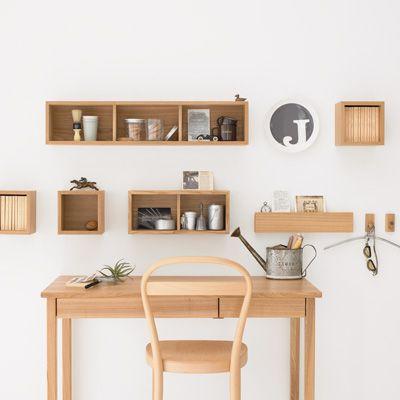 """インテリア好きの人や、無印好きな人たちの間で、数年前から人気のある「壁に付けられる家具」。その魅力と、上手に使っているみんなのお部屋風景をご紹介します!あなたも""""見せるインテリア""""でオシャレな空間を目指しましょう!"""
