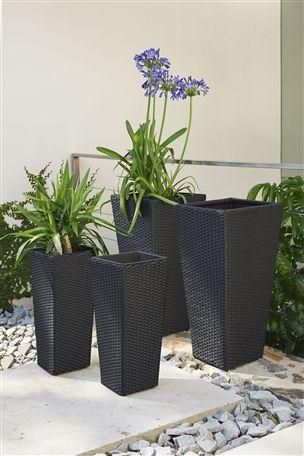 Rattan Effect Planters Set Of 2 (Large)