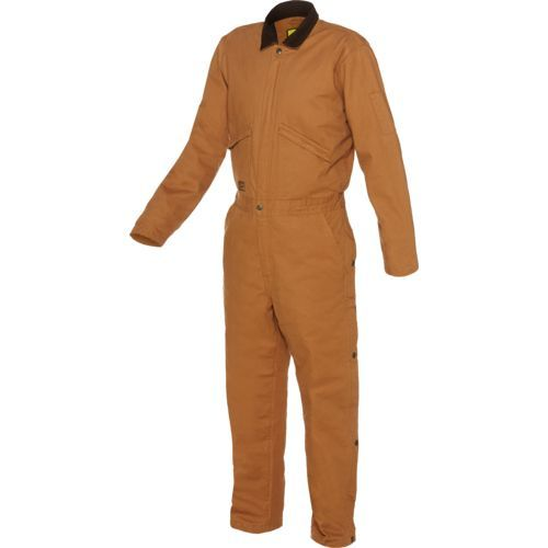 Brazos Men's Bull Horn Insulated Coverall (Brown Duck, Size Medium) - Men's Work Apparel, Men's Work Over/Coveralls at Academy Sports