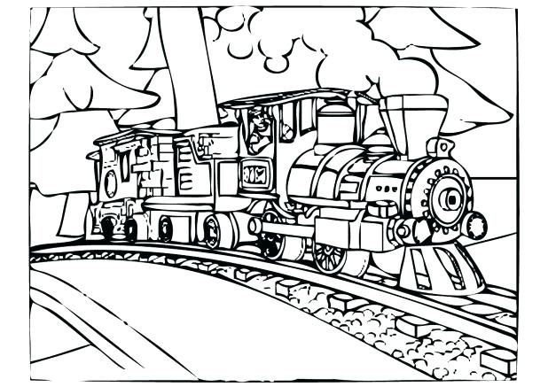 Steam Engine Polar Express Coloring Pages