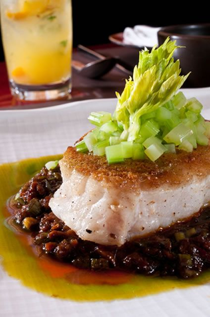 Baked Cod with Crunchy Celery and Black Beans | AmazingSeafoodRecipes ...