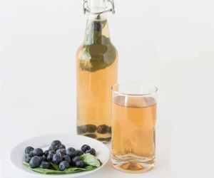 Blueberry Basil Kombucha Recipe | Paleo inspired, real food