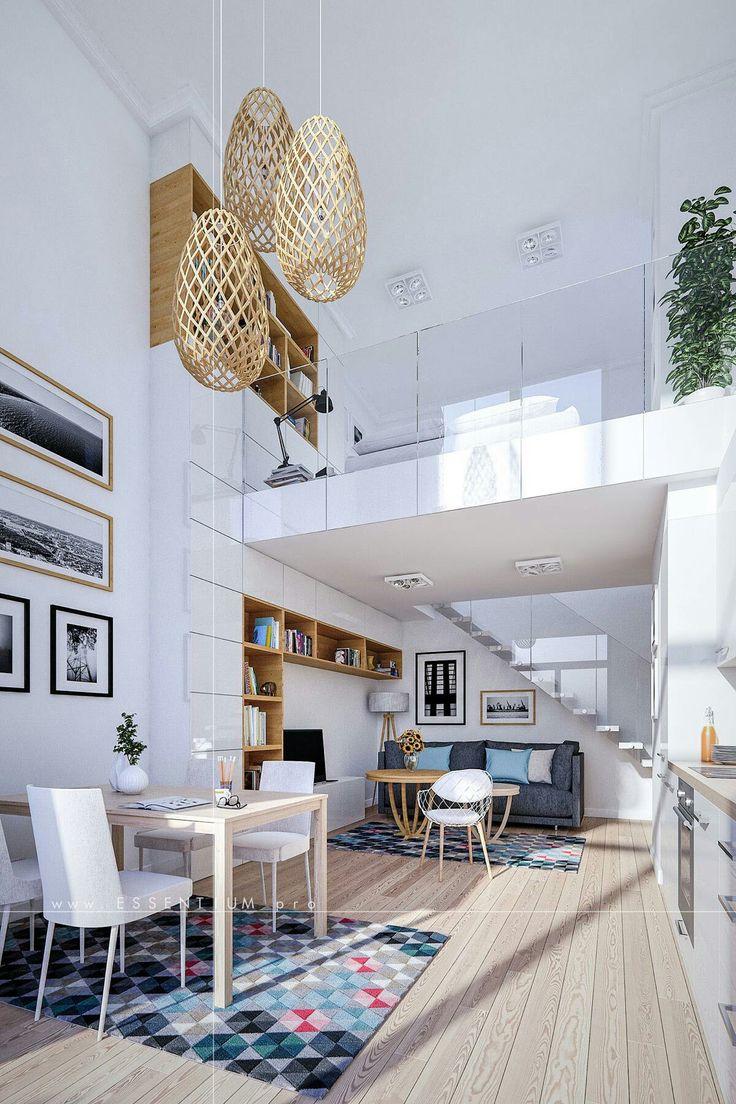 Loft moderno em tons branco