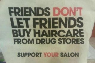Hair care and skin care from a drug store or a department store is a No No!