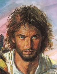 Jesus is portrayed as a young man