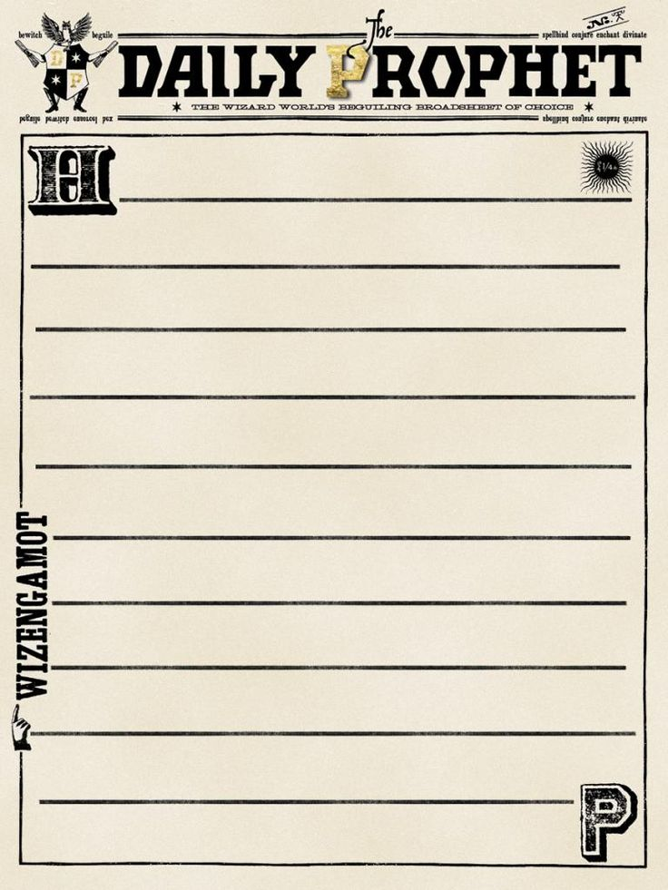 The Daily Prophet Printable Journal Card - Harry P...