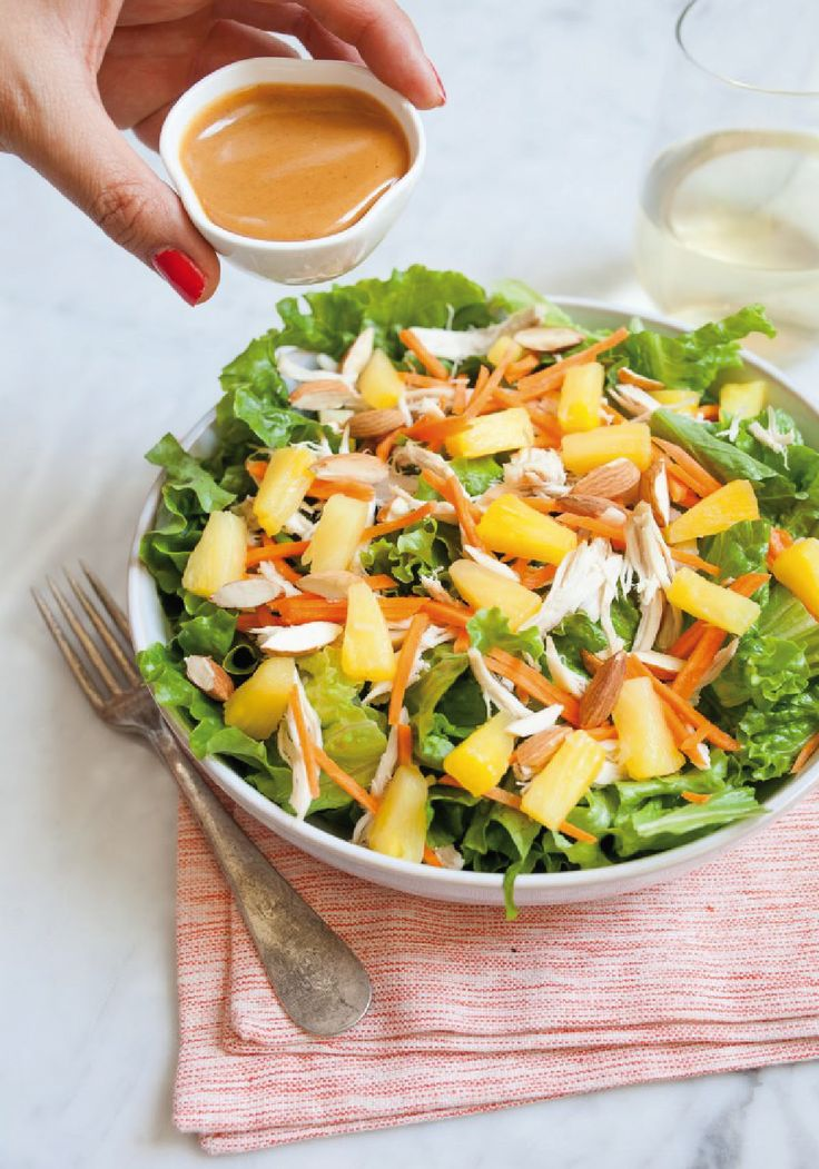 with this recipe for Chicken Salad with Pineapple and Miso Dressing ...