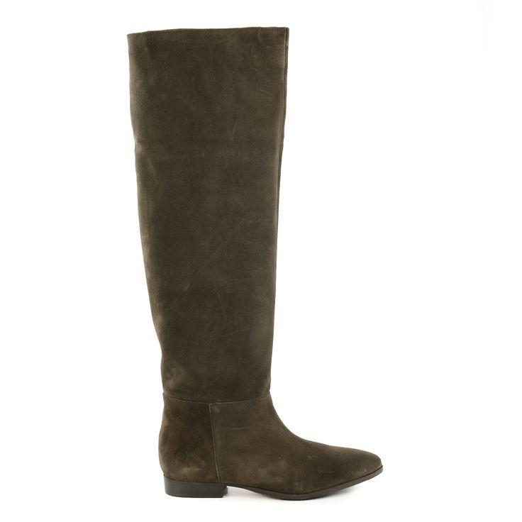 High suede overknee boots - Hoge suède overknee laarzen