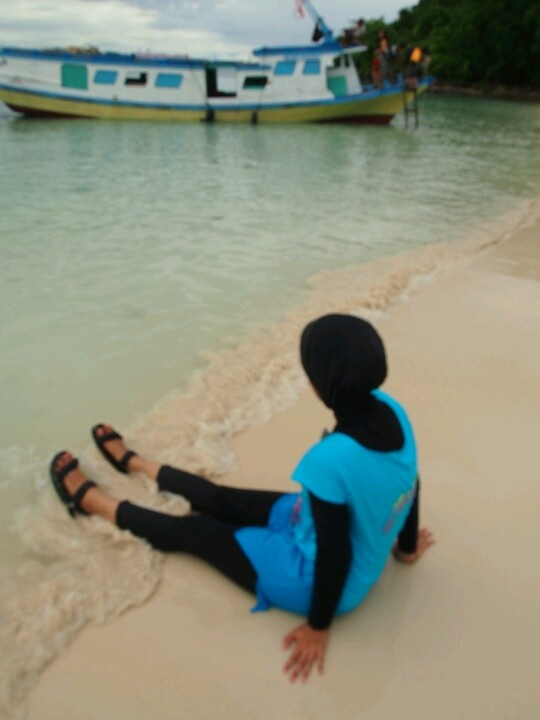 Here, i'm at Sebuku Island #Indonesia