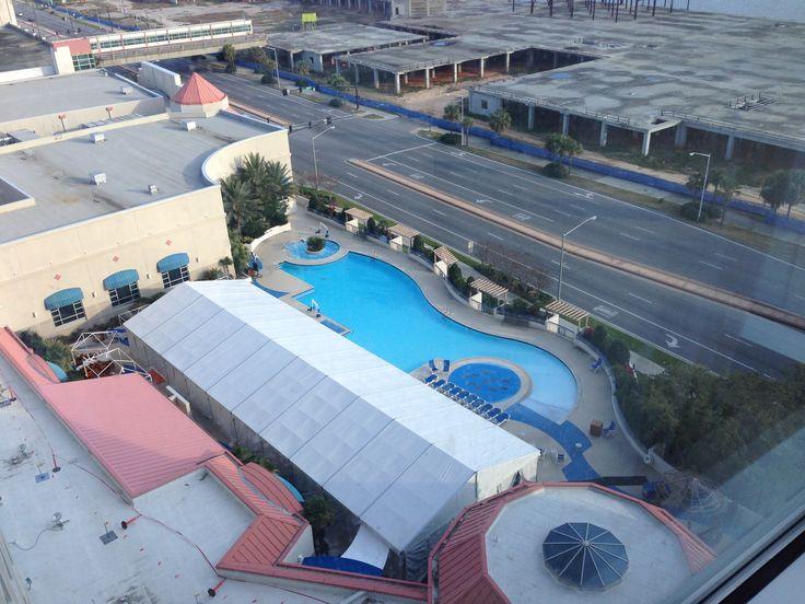 Pool at Harrah's in Biloxi, MS