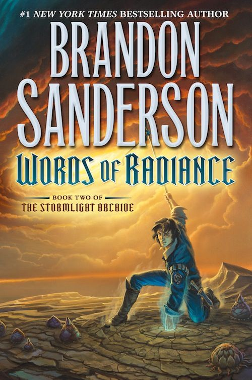 Brandon Sanderson The Stormlight Archive Words of Radiance // IMPROVED cover art from Michael Whelan, plus a long excerpt to read later.  :)