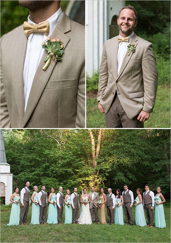gold and mint groomsmen @weddingchicks