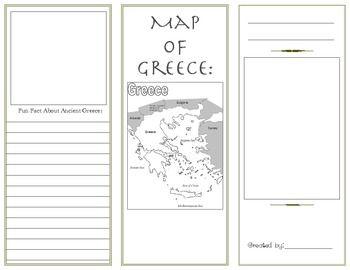 Ancient Greece Brochure Template