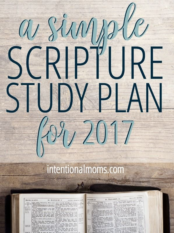 Finally, a simple Scripture study plan that fits into your busy life! Sign up to receive the free monthly plan and journaling pages! via @intentionalmoms
