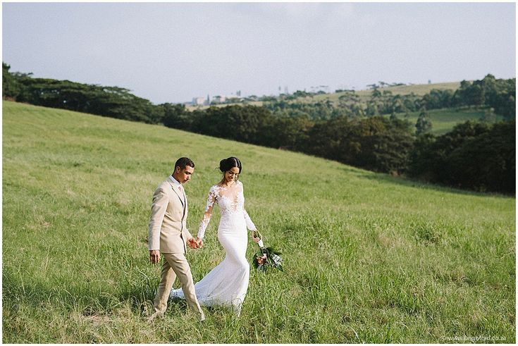 Our beautiful bride Cherise, in her bespoke Hanrie Lues Bridal dress. Photo: Brightgirl