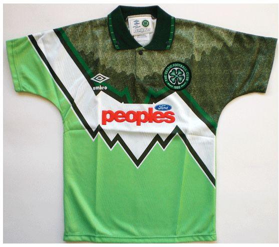 Celtic away. 91/92