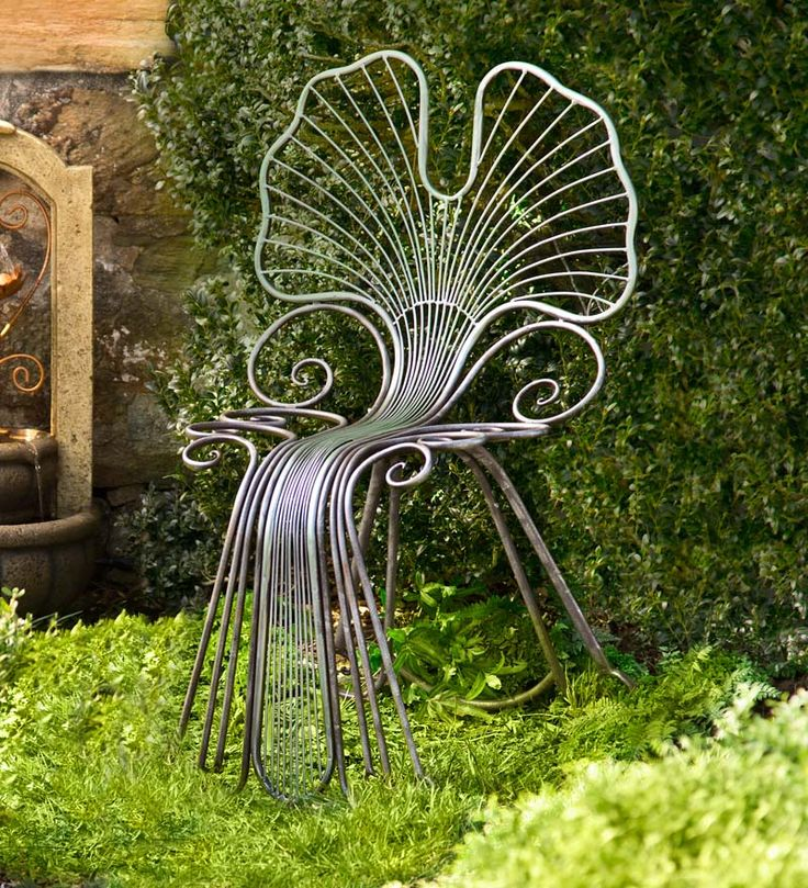 metal ginkgo leaf outdoor chair uh oh just might have to have this