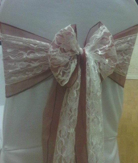 Gorgeous lace chair sashes