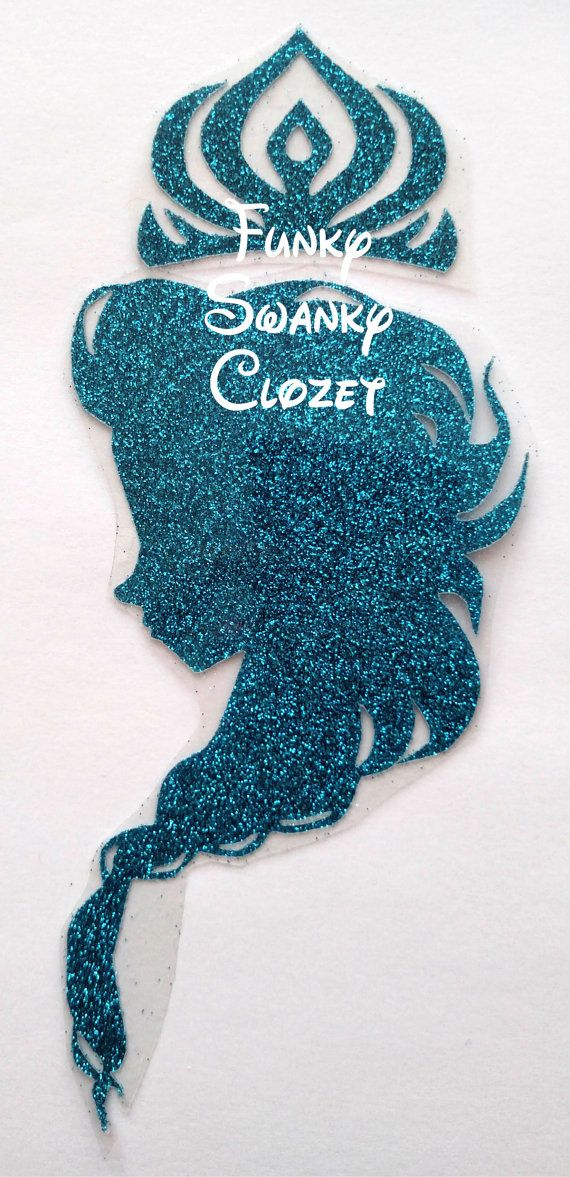 DIY Frozen Elsa Silhouette with crownDIY by FunkySwankyCloset