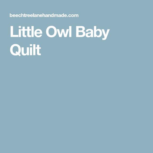Little Owl Baby Quilt