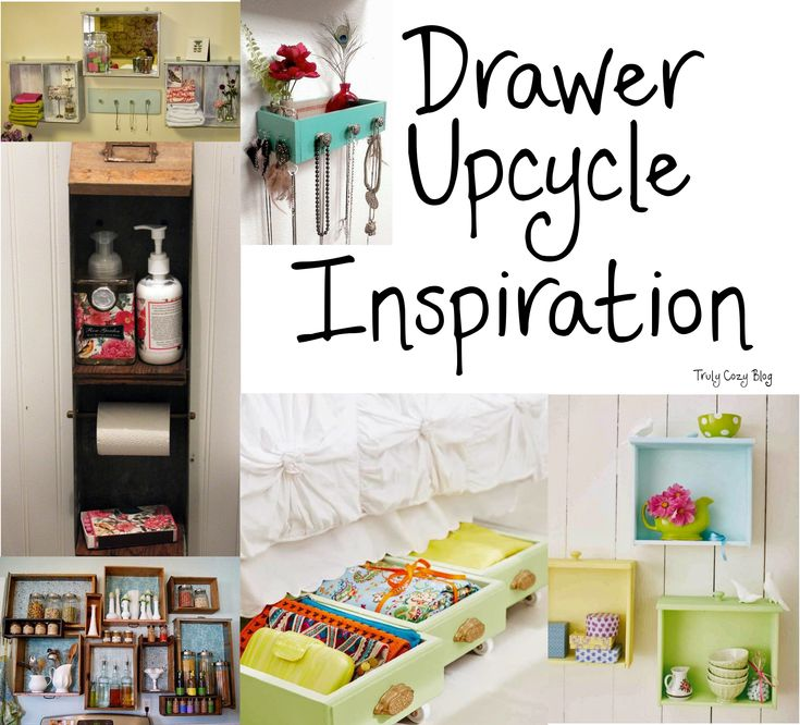 Find a cheap dresser at a garage sale or thrift store?? Here are some great tips and ideas for repurposing/upcycling the drawers into organization and storage solutions as well as other creative ideas!