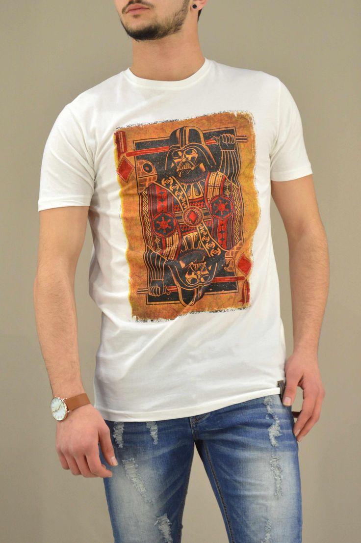 Aνδρικό t-shirt Star Wars Playing card MPLU-0875-wh   Άνδρας