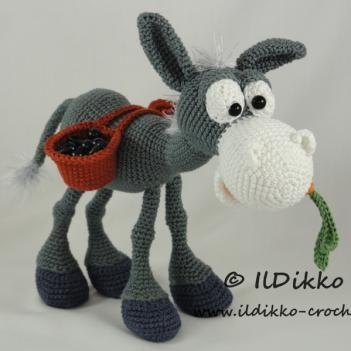 Dusty the Donkey amigurumi pattern by IlDikko