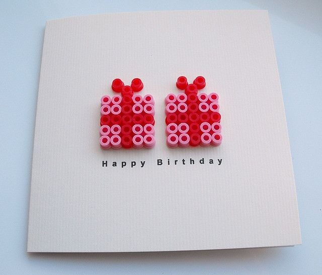 Hams beads birthday present happy birthday card idea