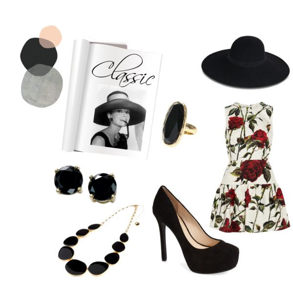 Classic by lucywerta on Polyvore featuring polyvore fashion style Dolce&Gabbana Jessica Simpson B. Brilliant Adele Marie Maison Michel Luxo