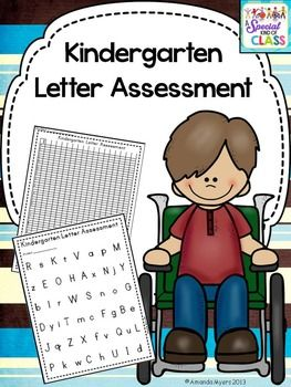 This kindergarten letter assessment pack contains everything you need to assess your child's letter knowledge on a daily basis.  Comes with instructions on how to assess a child with no verbal skills.